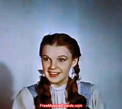 Judy Garland as Dorothy backstage in The Wizard of Oz