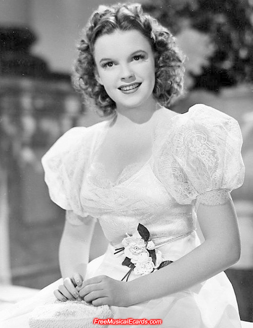 Judy Garland in a formal dress