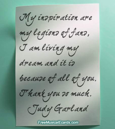 Rare letter from Judy Garland