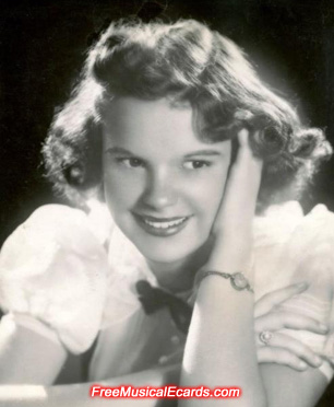 A young Judy Garland before she became famous as Dorothy in The Wizard of Oz