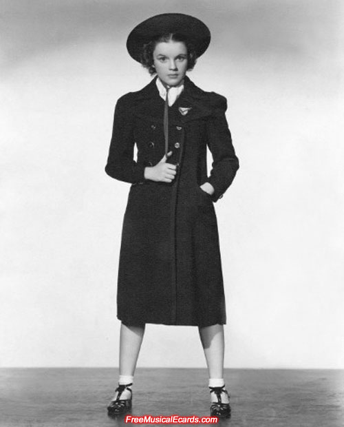 Cute and talented Judy Garland