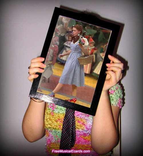 Judy Garland as Dorothy on The Yellow Brick Road
