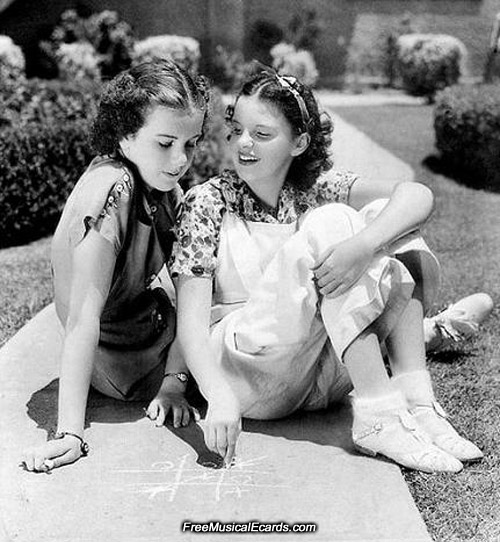 Judy Garland and Deanna Durbin