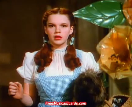 Judy Garland as a teenager when she played Dorothy