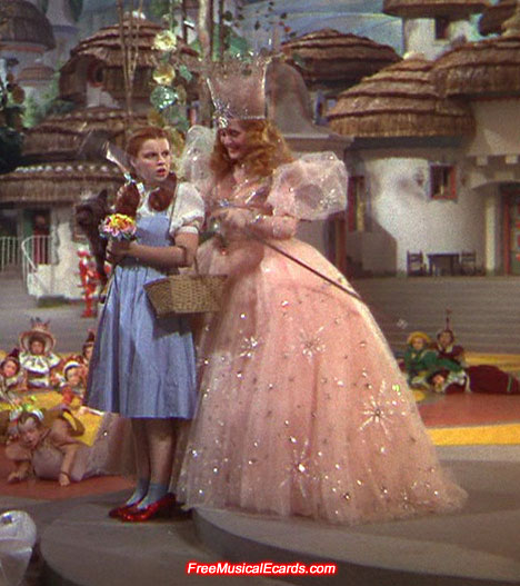 Judy Garland as Dorothy in her ruby slippers
