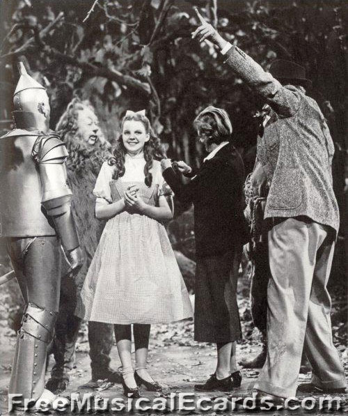 Judy Garland getting her hair fixed in The Wizard of Oz