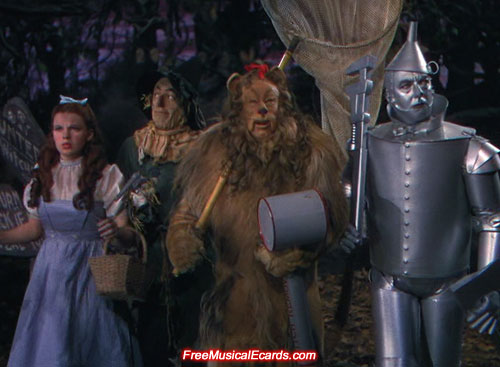 Judy Garland as Dorothy in the Haunted Forest
