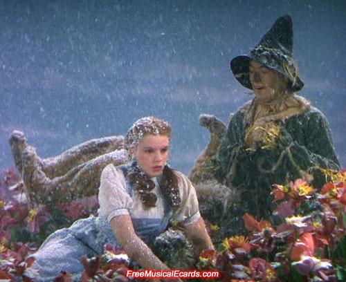 Judy Garland as Dorothy in the Poppy Field