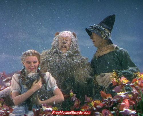 Judy Garland as Dorothy in the Poppy Field