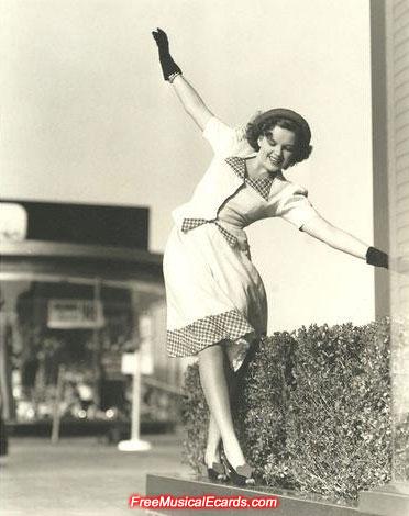 Judy Garland balancing