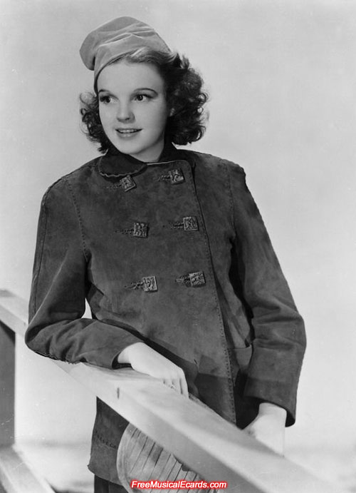 Judy Garland as a teenager poses at MGM studios