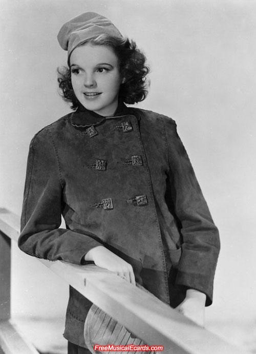 Judy Garland as a teenager poses at MGM studios
