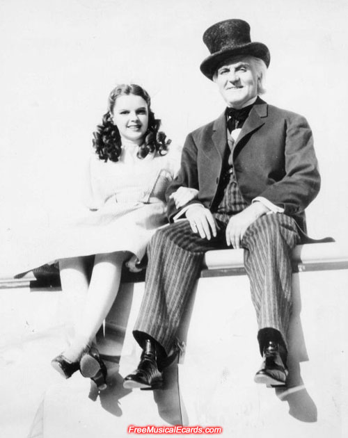 Judy Garland as Dorothy with Frank Morgan as the Wizard in The Wizard of Oz