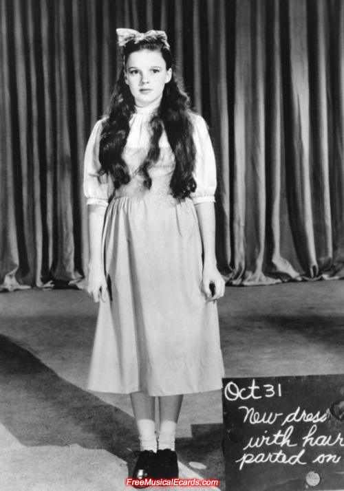 Judy Garland costume test for The Wizard of Oz (1939 musical film)