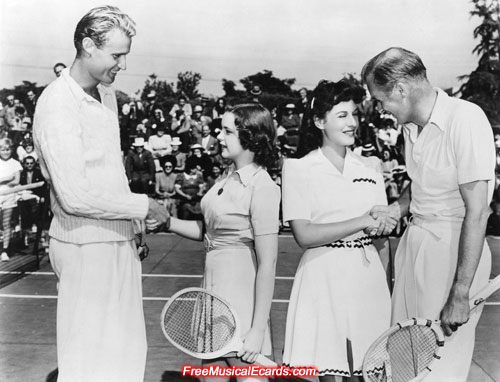 Judy Garland on the tennis court