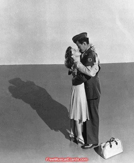 Judy Garland as Alice, and Robert Walker as Joe in The Clock