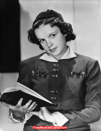 Judy Garland reading a book