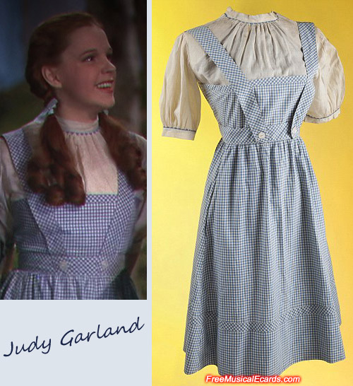 Judy Garlands signature gingham dress from The Wizard of Oz