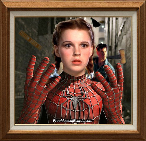 Judy Garland the spidergirl