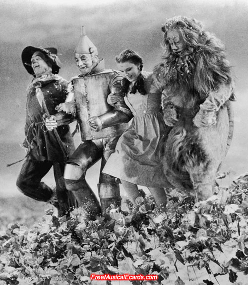 Judy Garland tripped over during the filming of The Wizard of Oz
