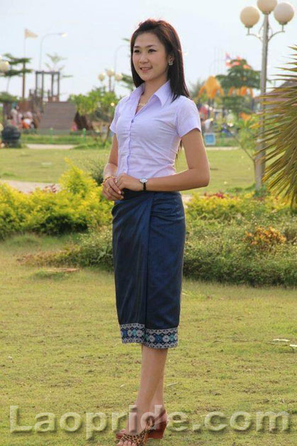 Cute Lao female student posing for the camera