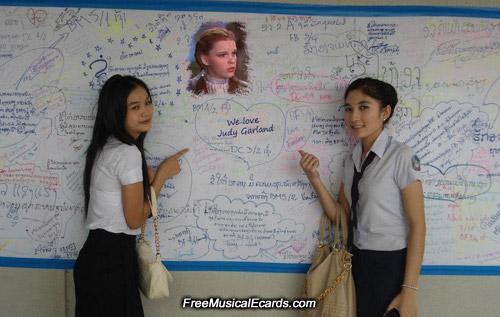 Lao students love Judy Garland