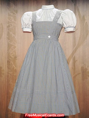 Original checkered Dorothy dress worn by Judy Garland