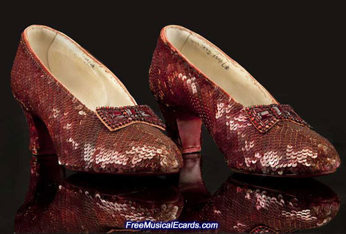 The ruby slippers as they look today