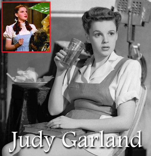 The Wizard of Oz star Judy Garland on the set of Ziegfeld Girl