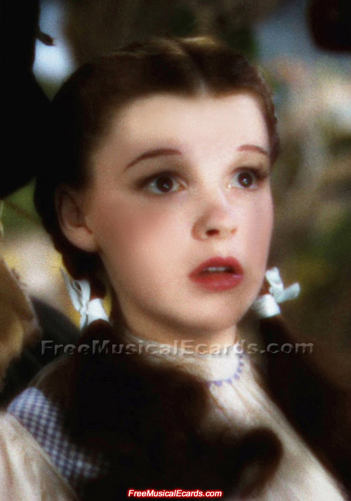 Attractive Judy Garland as Dorothy