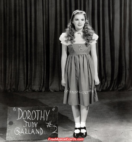 Costume test for Judy Garland