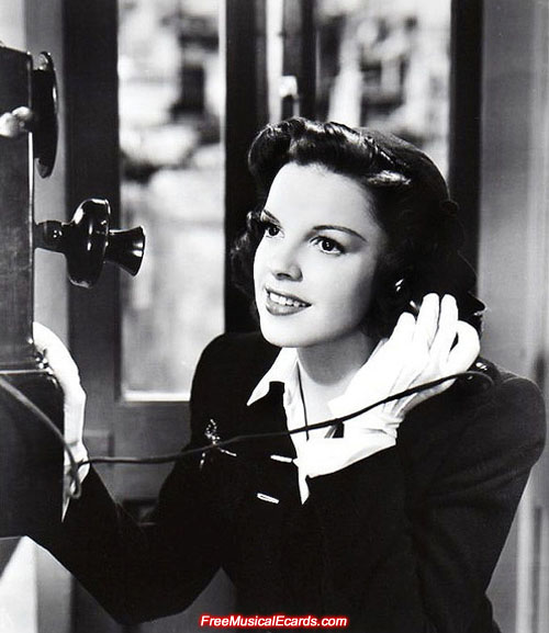 Judy Garland as Alice in The Clock
