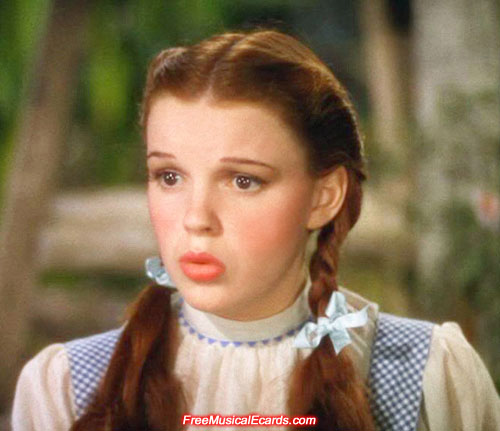 Judy played Dorothy in The Wizard of Oz