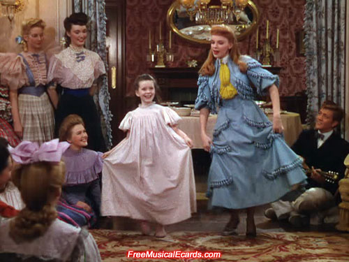 Judy Garland as Esther Smith dancing in Meet Me in St. Louis