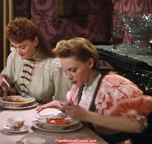 Judy Garland as Esther Smith eating soup in Meet Me in St. Louis