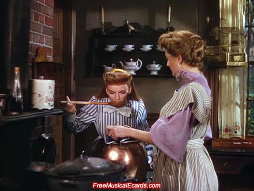 Judy Garland as Esther Smith tasting ketchup
