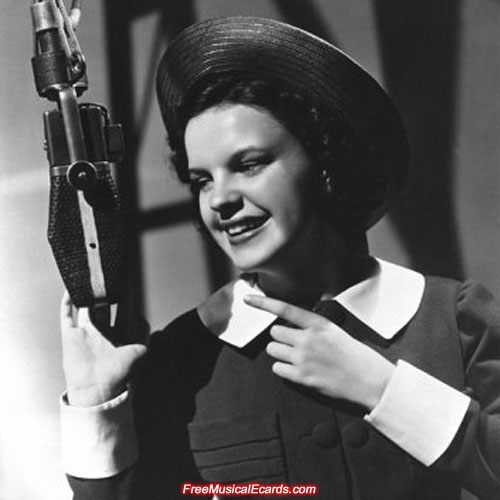 Judy Garland pre-recording Everybody Sing