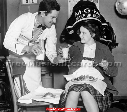 Judy Garland gets treated with some decent food