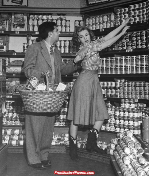 Judy Garland goes grocery shopping