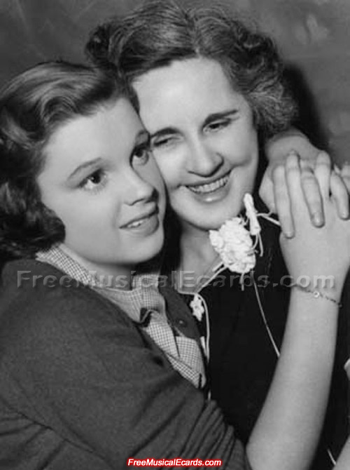 Judy Garland having a cute moment with her mother