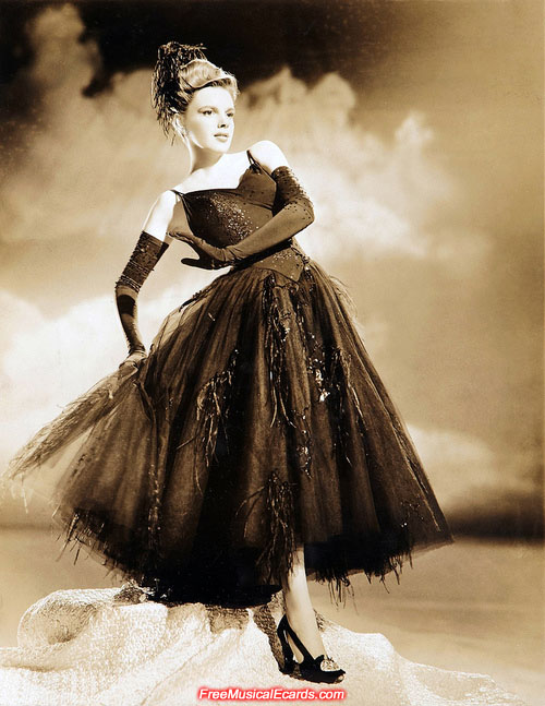 Judy Garland in a stunning gown