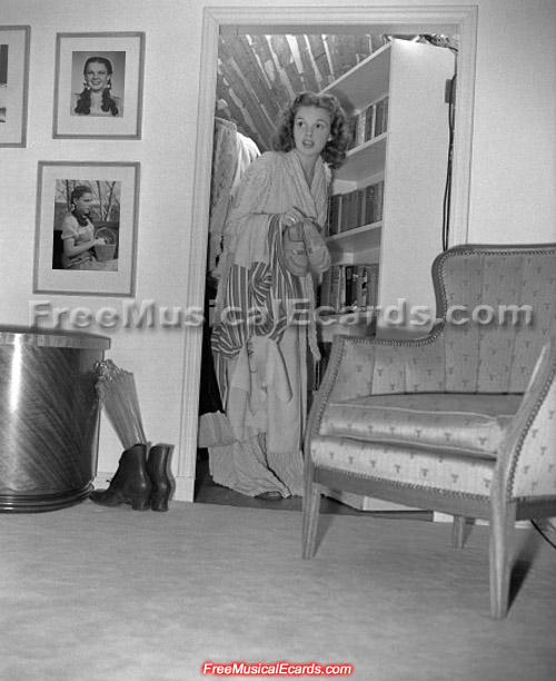 Judy Garland in her MGM dressing room