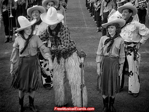 Judy Garland wearing boots in Pigskin Parade