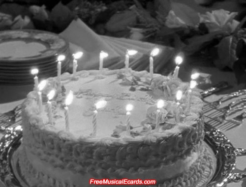 Judy Garland's sweet sixteen birthday cake