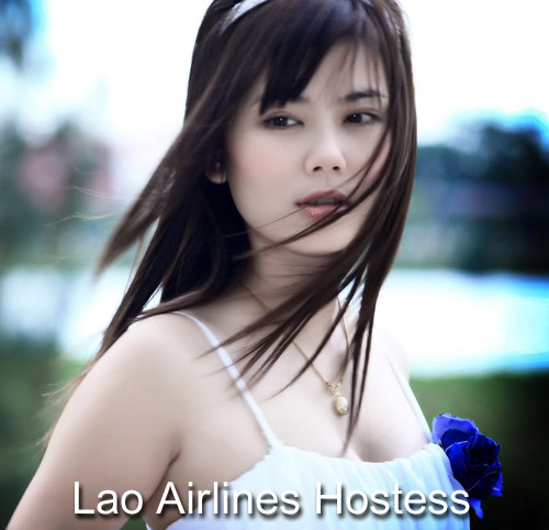 Lao Airlines hostess