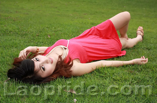 Lao beauty on the grass