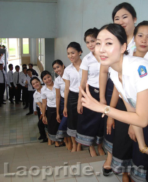 Lao female students