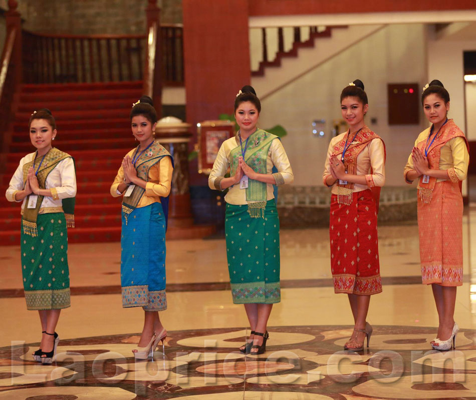 Traditional: Lao Women In Traditional Clothes