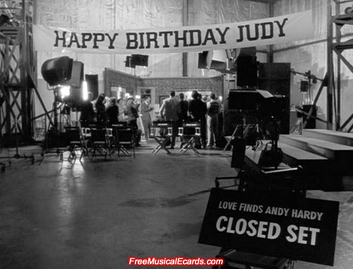 MGM arrange a 16th birthday party for Judy Garland