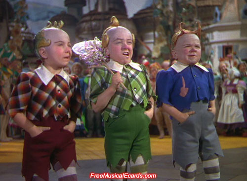 The Three Munchkins in The Wizard of Oz
